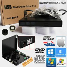 USB To SATA Laptop CD DVD Combo RW Rom Drive Case External Cover Caddy Enclosure