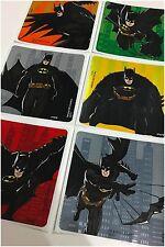 Batman Stickers x 6 - Birthday Party Favours - Foil - Loot Bag Ideas DC Comics