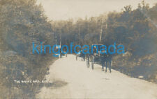 Canada Manitoba Birtle Ravine Rd Horse & Buggy RP Massey Harris Sign 1910
