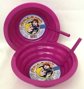 BPA Free Dishwasher Safe Sip-A-Bowl or Cup Built in straw  Made In USA 4 colors