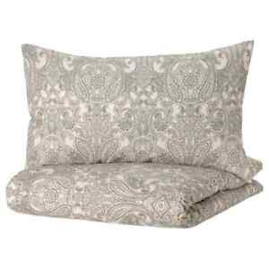 IKEA JATTEVALLMO Duvet Cover and Pillowcase Dark Blue Gray Twin Queen King