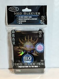 Max Protection Yugioh Size Black Skull Rainbow Holo 50ct Sleeves Pack