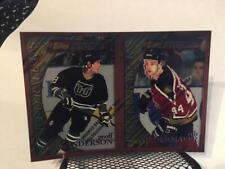 1995-96 Finest Bronze UNCUT PROOF Geoff Sanderson Rob Niedermayer