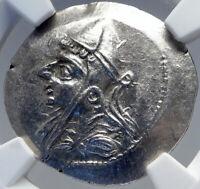 Phriapatios to Mithradates I Ancient 185BC PARTHIA Silver Greek Coin NGC i82593