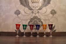 6 Römer Kristallgläser Likörrömer Schnapsgläser Glas Bleikristall Set  6 Farben