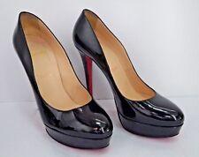 CHRISTIAN LOUBOUTIN $875 Bianca black patent leather platform pumps heels 41