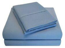 Luxor Impressions Rayon from Bamboo Sheet Set 300 TC ~ Full ~ Medium Blue**NEW**