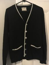 Awesome Vintage Cardigan Sweater Black/Gray/White Size M