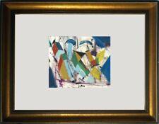Avantgarde Öl Pappe abstrakt 19x16 cm TOP!