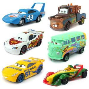 Disney Pixar Cars 2 3 Lightning McQueen Jackson Storm Mater 1:55 Model Car Toy