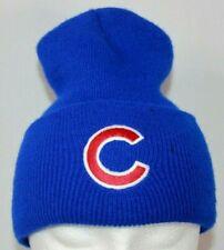 Chicago Cubs Baseball MLB Winter Stocking Cap Beanie Hat Blue Unisex One Sz EUC
