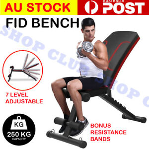 Adjustable Dumbbell Weight Abdominal Bench Sit-up Fitness Flat Gym Exercise Gift