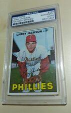 RARE 1967 Topps Larry Jackson SIGNED AUTOGRAPH PSA DNA Philadelphia Phillies 229