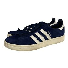 Men's ADIDAS Campus White and Blue Leather Trainers Size UK 9.5 - S22