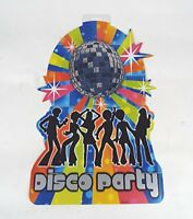 Disco Party Embellishment Cut Out Hanging Decoration Glitter Ball 12 pack 70 80s