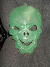 "New Halloween Glow in the Dark Skeleton Head 15"" Tall Lot of 2"
