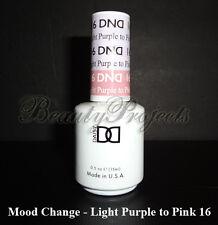 DND Daisy Soak Off Gel Mood Change Light Purple to Pink 16 LED/UV 15mL gel NEW!