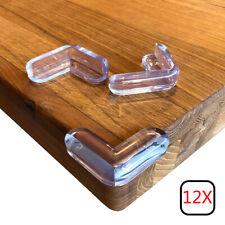12Pcs Corner Guards Baby Protectors Kid High Resistant Adhesive Gel Best Bab UK