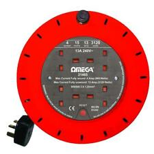 Omega 21465 sicurezza termica 15m bobina di estensione con presa di uscita a 4 vie-Arancione