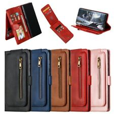 Zipper Card Magnetic Stand Wallet Case For Samsung A10 A20 A40 A50 A70 J530 J730