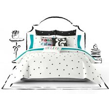 KATE SPADE Deco Dot King Black Polka 3 PC COMFORTER SET