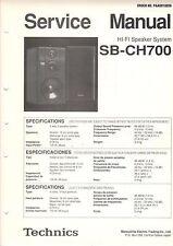 Technics colección 14 Service admite sb-cs50, cs70, cs90, s70, ex12, U.M. b1781