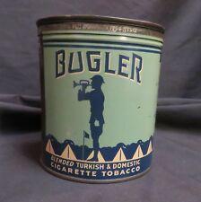 Vintage Bugler Blended Turkish & Domestic Cigarette Tobacco Tin, Empty