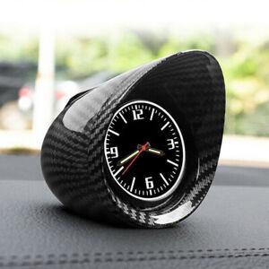Car Truck Interior Dashboard Clock Luminous Backlight Glossy Carbon Fiber Look