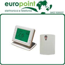Cronotermostato WIRELESS senza fili digitale retroilluminato con display LCD