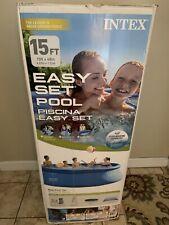 """Intex Inflable De 15' X 48"""" fácil configuración por encima de la tierra piscina Con Escalera & Bomba"""