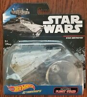 Disney Hot Wheels Highhly Collectible Star Wars Starships Star Destroyer w/stand
