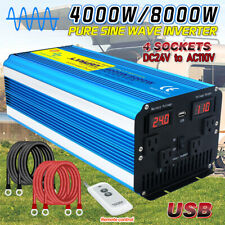 4000W 8000W pure sine wave power inverter 24V to 110V Converter remote control
