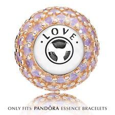 Genuine argento & 14 KT ORO Pandora ESSENCE: LOVE CHARM 796064NOP ALE