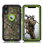 Heavy Duty Defender iphone XR Military Case + Clip Fits Otter Box W/ SCREEN