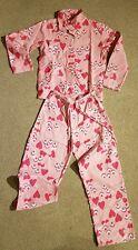 Girls Size 10 Billabong Pink Flannelette Long Sleeve + Pant Pajama Pyjama Set