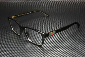 GUCCI GG0749O 005 Rectangular Squared Havana Dark 55 mm Men's Eyeglasses