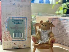 """Cherished Teddies 141275 Dina sitting in Chair """"Bear In Mind, You're Special"""" ~"""