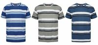 Mens T Shirt Striped Summer Beach Holiday Thick Casual V Neck New Ex Store