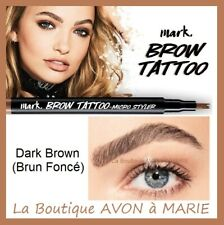 DARK BROWN BROW TATTOO Stylo Tatouage Sourcils AVON : SEMI PERMANENT