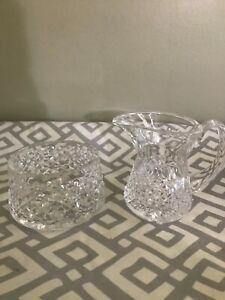 Waterford Irish Crystal MINT TRAMORE Pattern Sugar and Creamer Set MINT