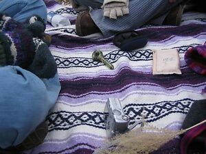 5 Pack Mexican Artisanal Handwoven Serape Blanket Authentic Falsa Camping Throw