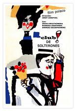 "Cuban movie Poster""CLUB de solterones.Singles""Expressionist colorful fresh art."