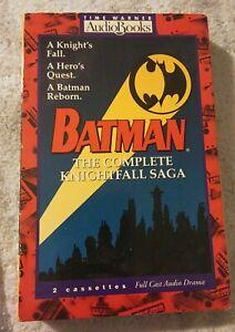 Batman The Complete Knightfall Saga Time Warner Audiobooks 2 Cassette Tapes 1994