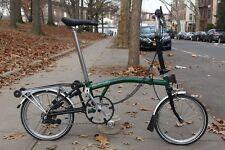 Brompton M6R Racing Green Folding Bike Travel Case Commuter Classic Bicycle