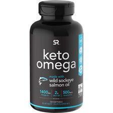 Спортивные научно-исследовательский Кето Омега диетические добавки - 120 капсул