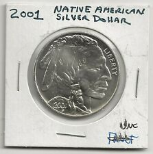 US Mint 2001  American Buffalo Commemorative Coin UNC Silver Dollar No Box/COA