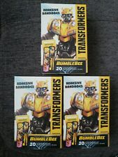 Transformers BumbleBee Band Aids Lot 3 boxes Latex Free  60 Band aids