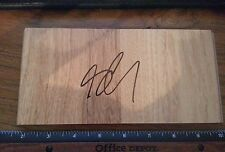 SETH CURRY DALLAS MAVERICKS AUTOGRAHED BASKETBALL EXLARGE FLOORBOARD PROOF 12/26