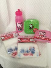 Hello Kitty Lunch Sandwich Snack Ziplock Container reusable Water bottle Sanrio