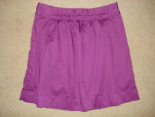 J.Crew Purple Mini Short Skirt Cotton Size 4,Pleated,Fuscia